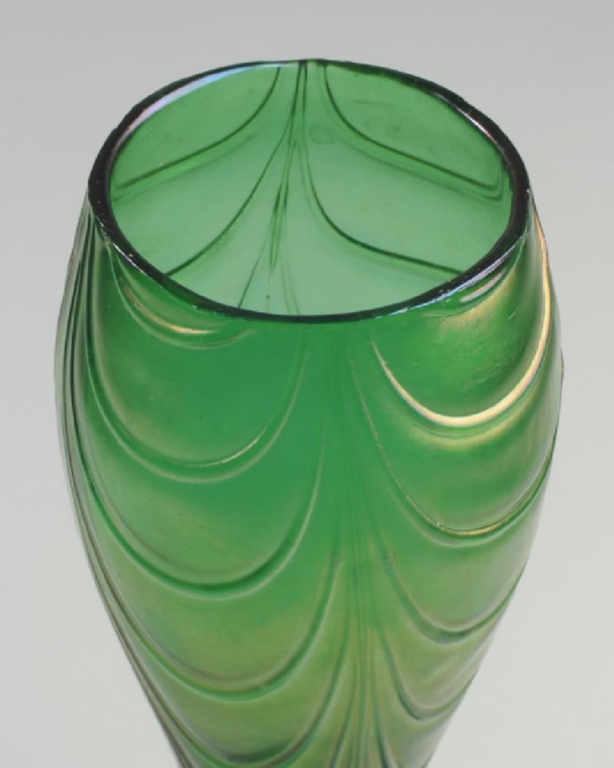 Loetz-type Crete Bohemian Glass Vase - 3