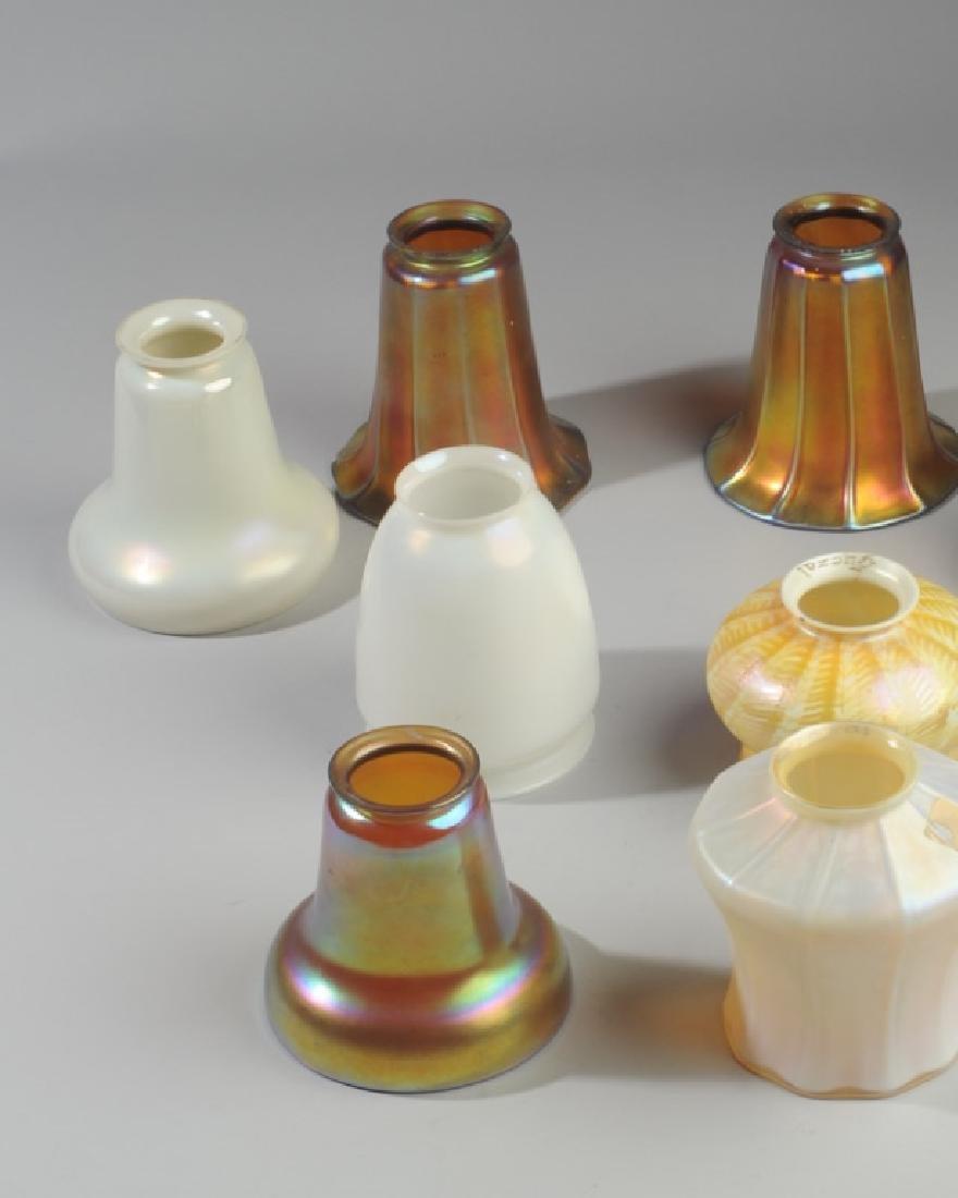 Lot of Iridescent  Art Glass Shades, Quezal - 2