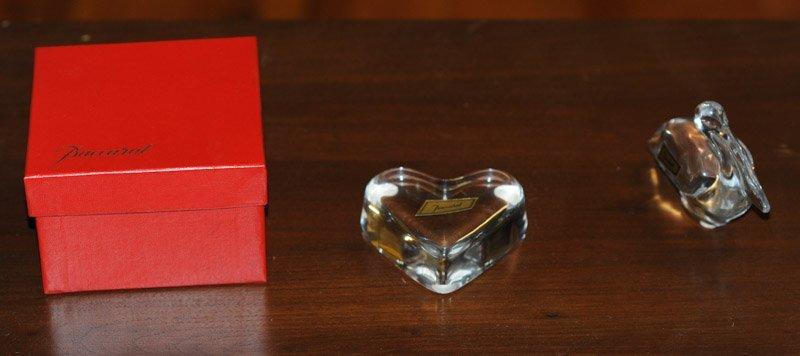 Baccarat Crystal Heart in Original Box and Pelican