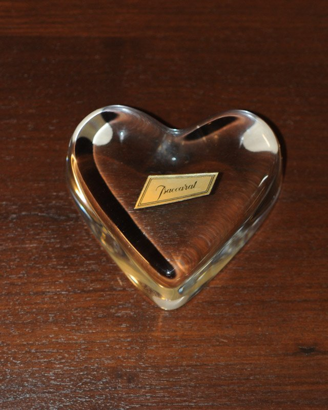 Baccarat Crystal Heart in Original Box and Pelican - 2