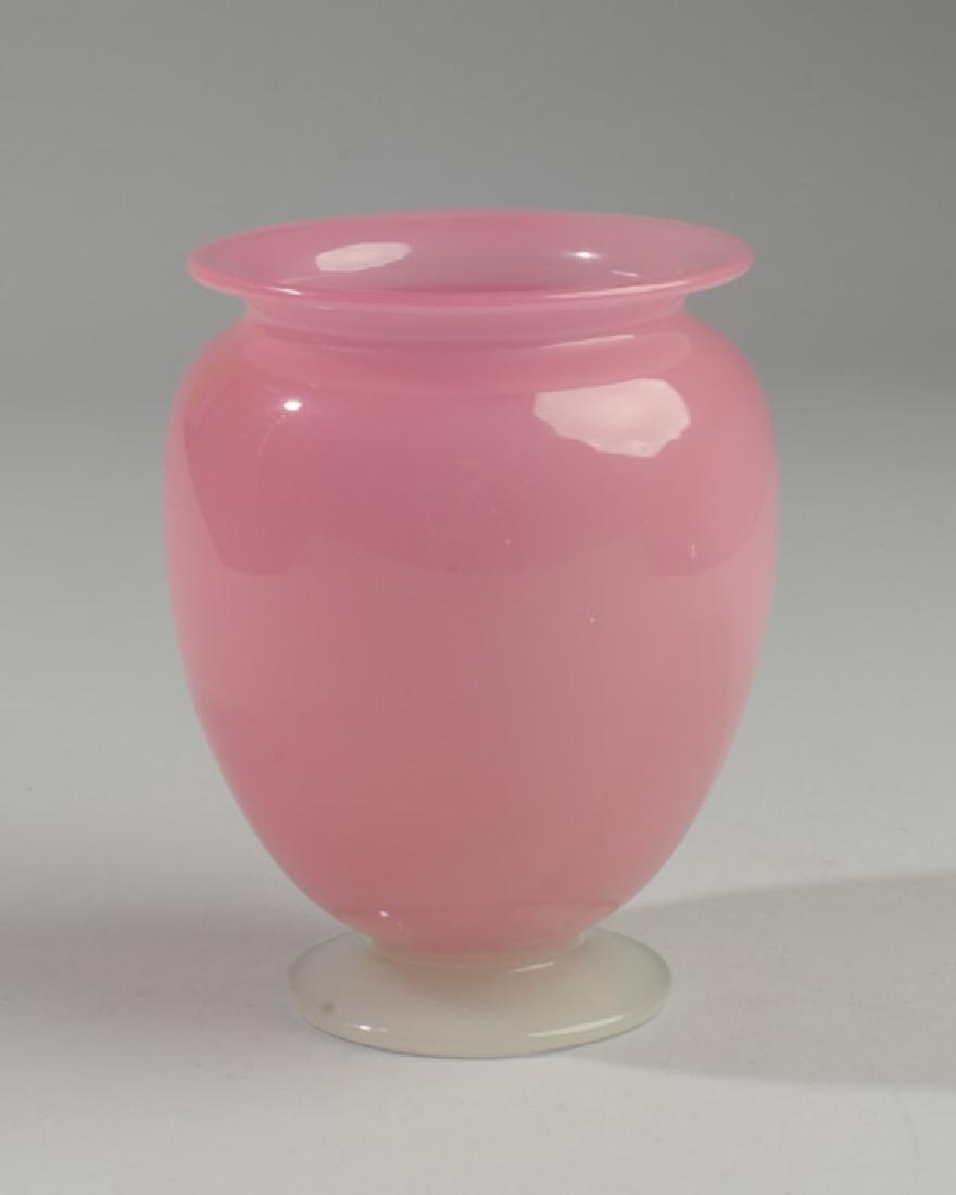 Steuben Roseline & Alabaster Vase C.1925