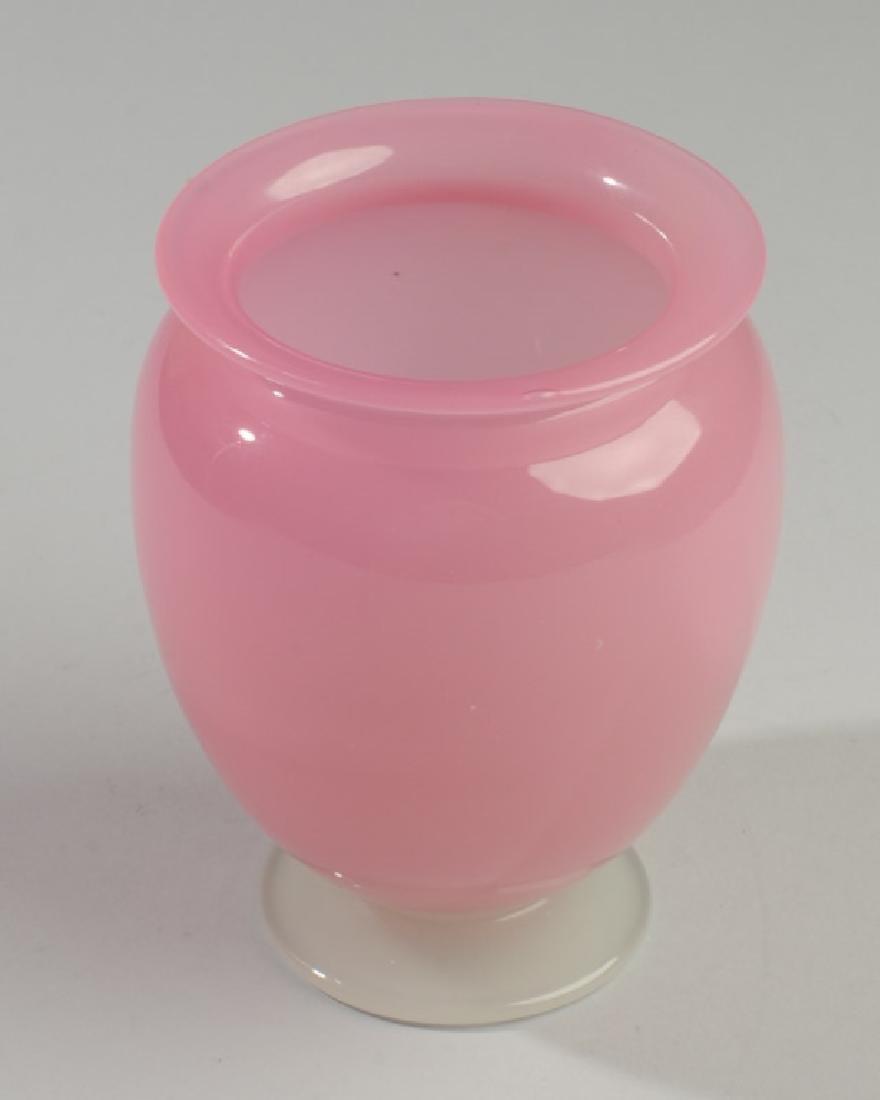 Steuben Roseline & Alabaster Vase C.1925 - 2