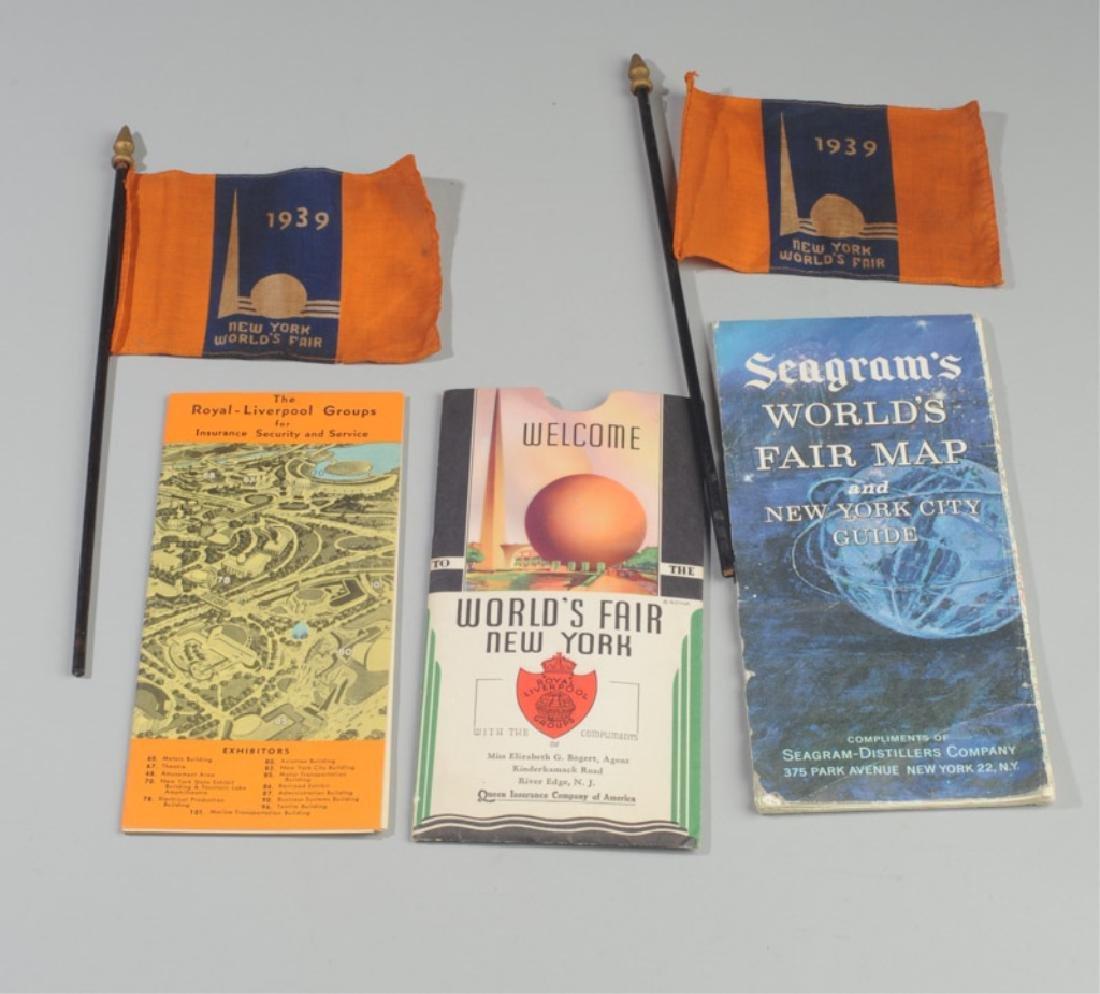 New York Word's Fair Souvenir Maps and Flags