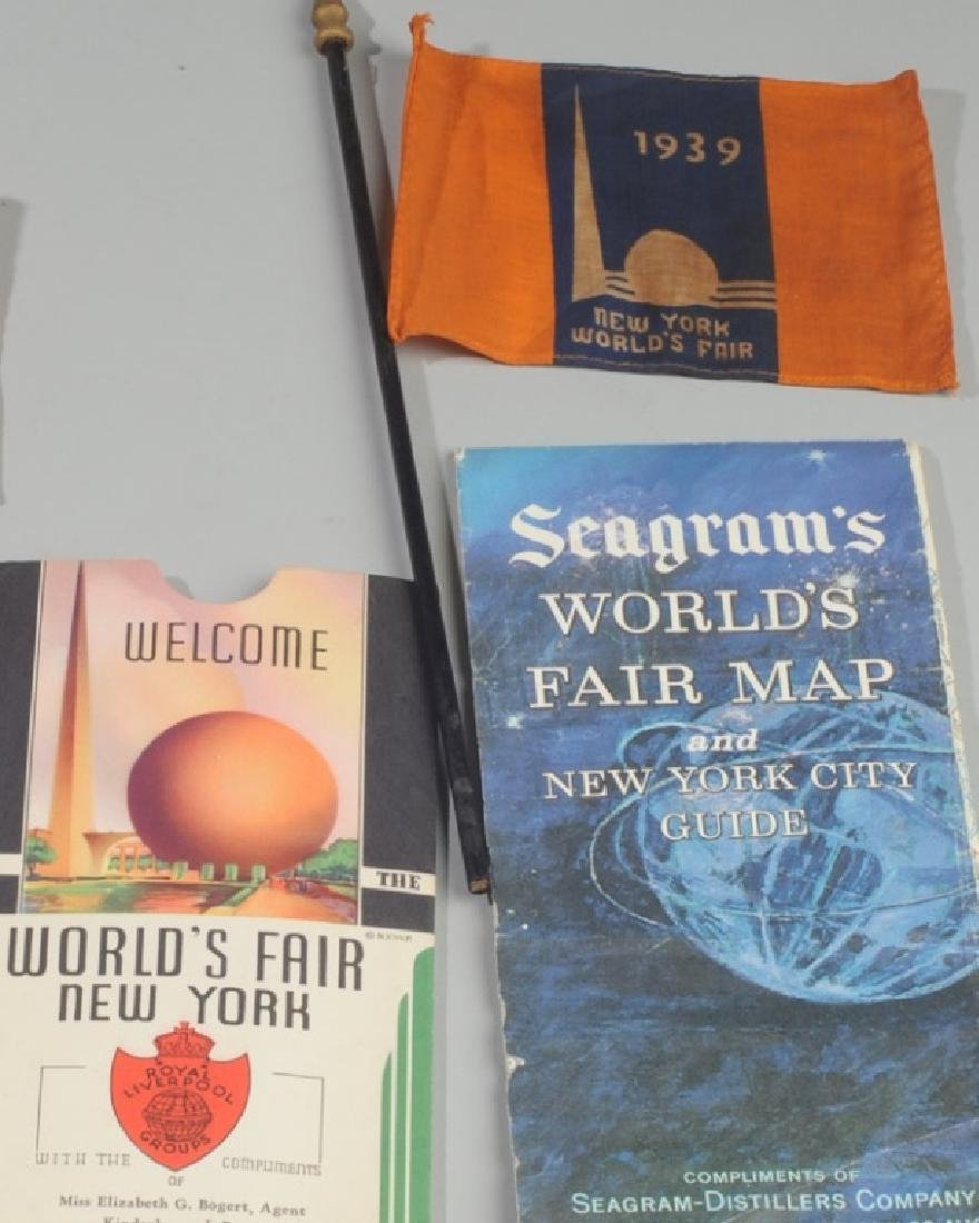 New York Word's Fair Souvenir Maps and Flags - 2