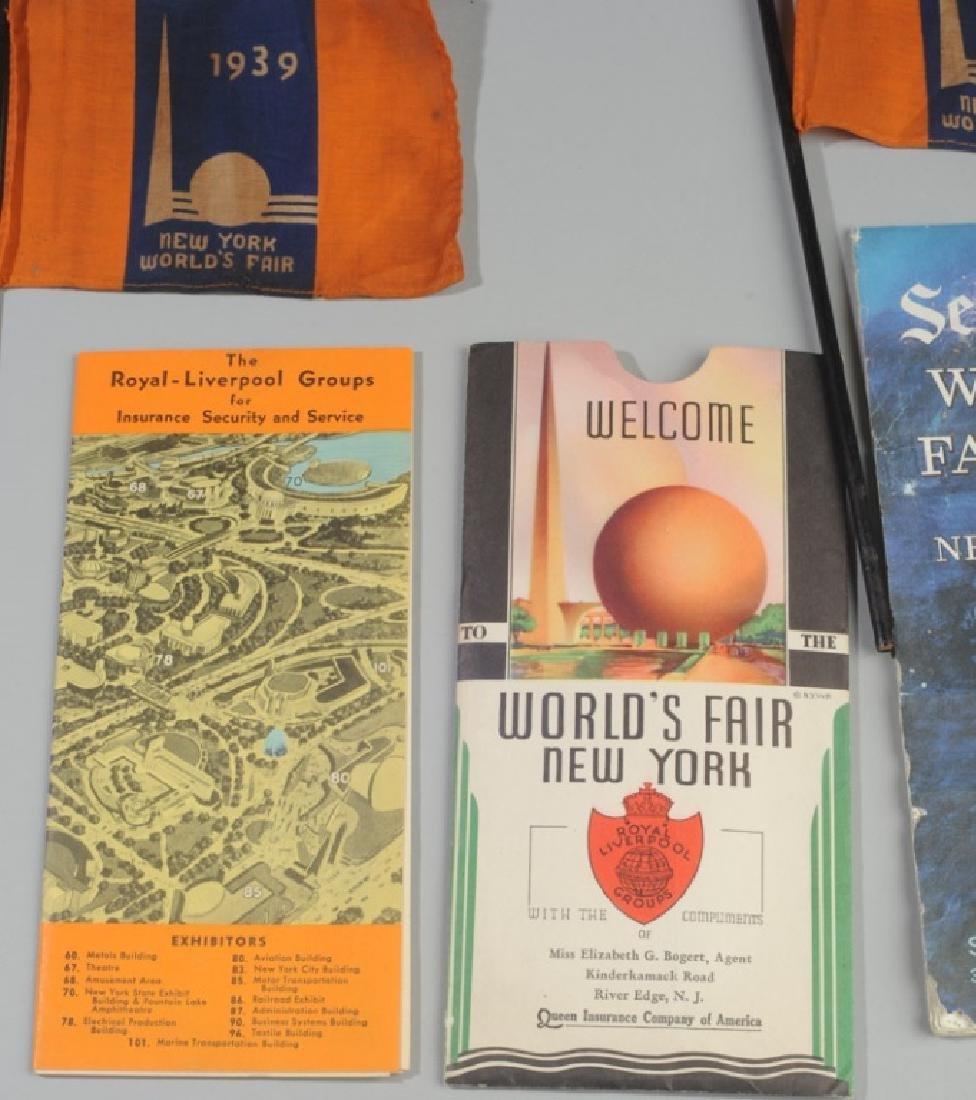 New York Word's Fair Souvenir Maps and Flags - 3