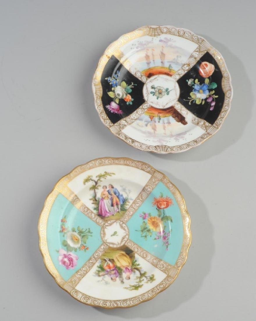 19th C. Meissen and Dresden Plates