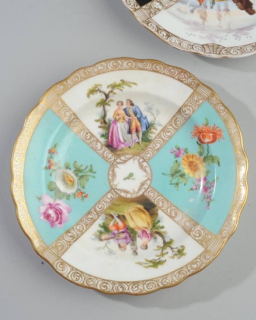 19th C. Meissen and Dresden Plates - 4