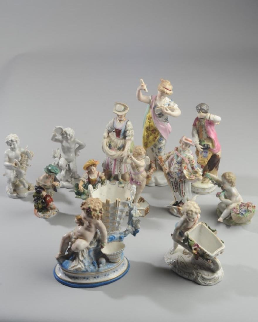 Lot of Continental Porcelain Figures