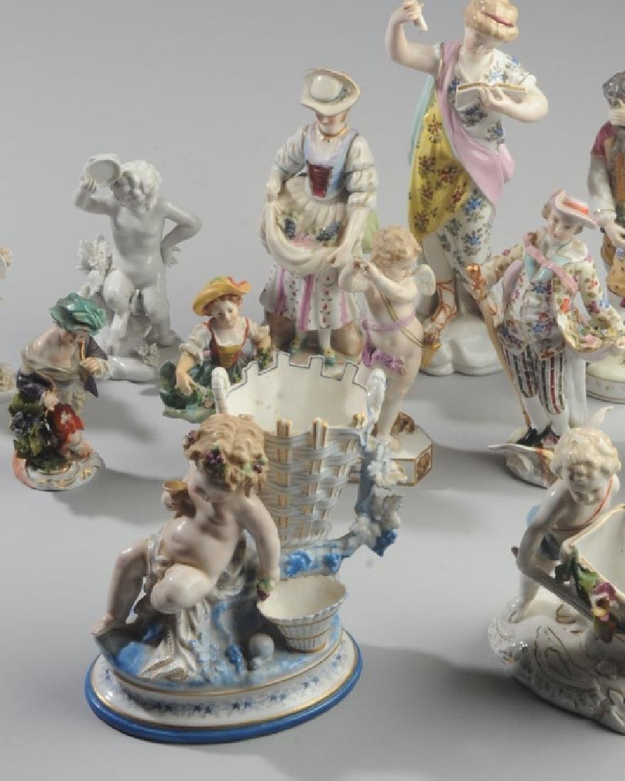 Lot of Continental Porcelain Figures - 2