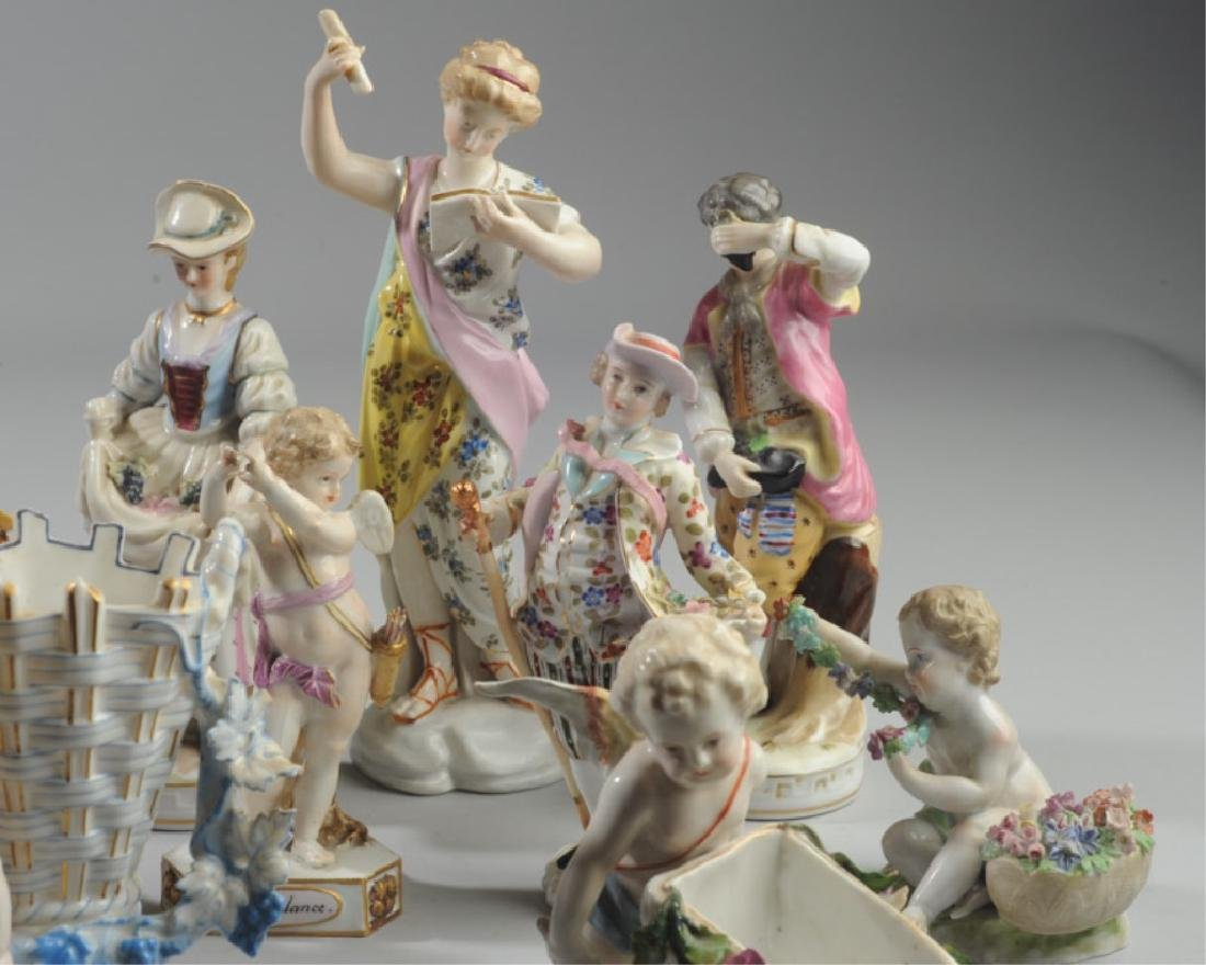Lot of Continental Porcelain Figures - 4