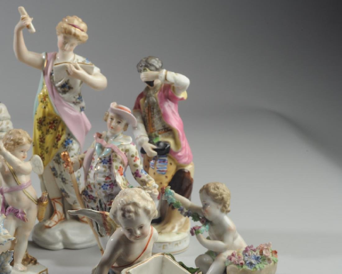 Lot of Continental Porcelain Figures - 5