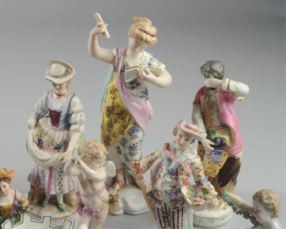 Lot of Continental Porcelain Figures - 6