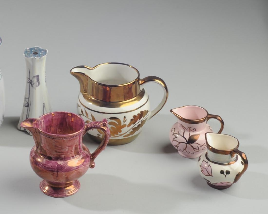 Mixed Copper & Pink Lustreware Lot - 2