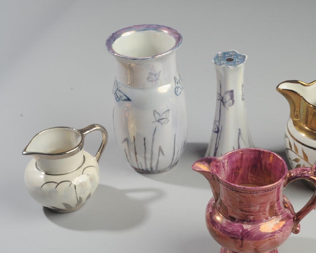 Mixed Copper & Pink Lustreware Lot - 3