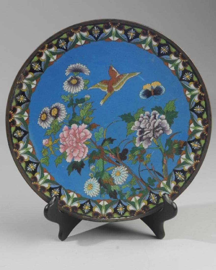 Japanese Meiji Cloisonne Plate