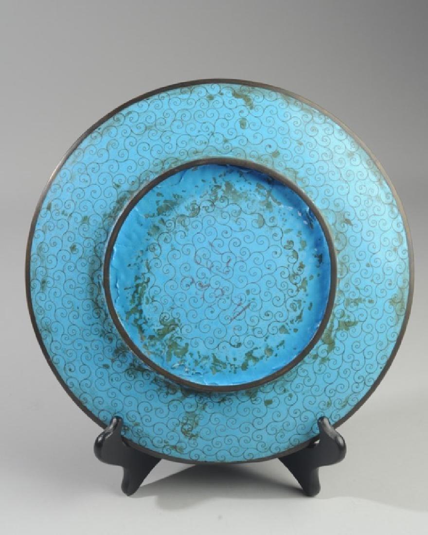 Japanese Meiji Cloisonne Plate - 3