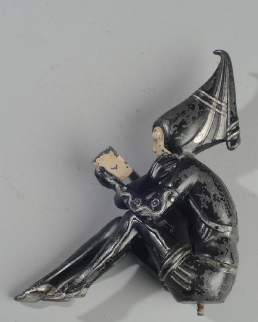 Vintage Female Form Jester Hood Ornament - 2
