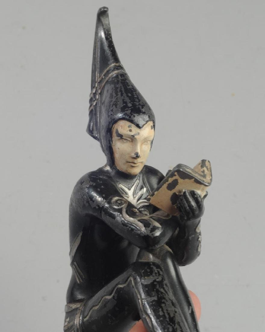 Vintage Female Form Jester Hood Ornament - 3