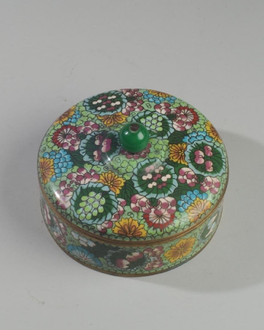 19th C. Chinese Cloisonne Box & Cover