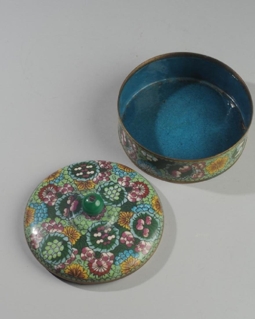 19th C. Chinese Cloisonne Box & Cover - 2