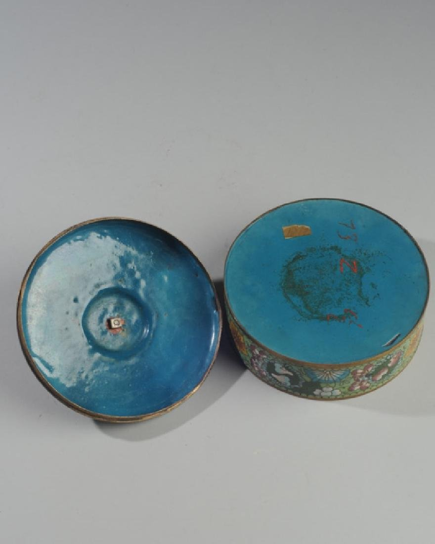 19th C. Chinese Cloisonne Box & Cover - 3