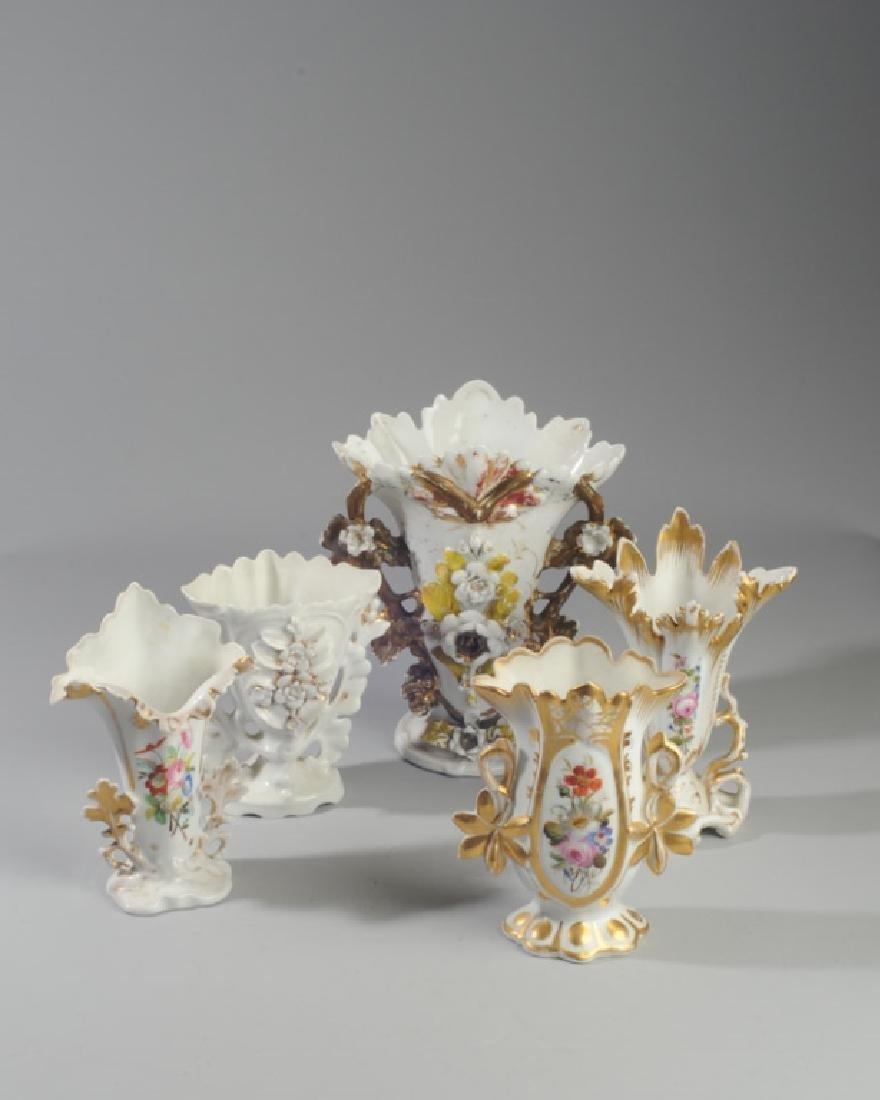 Five Old Paris Vases