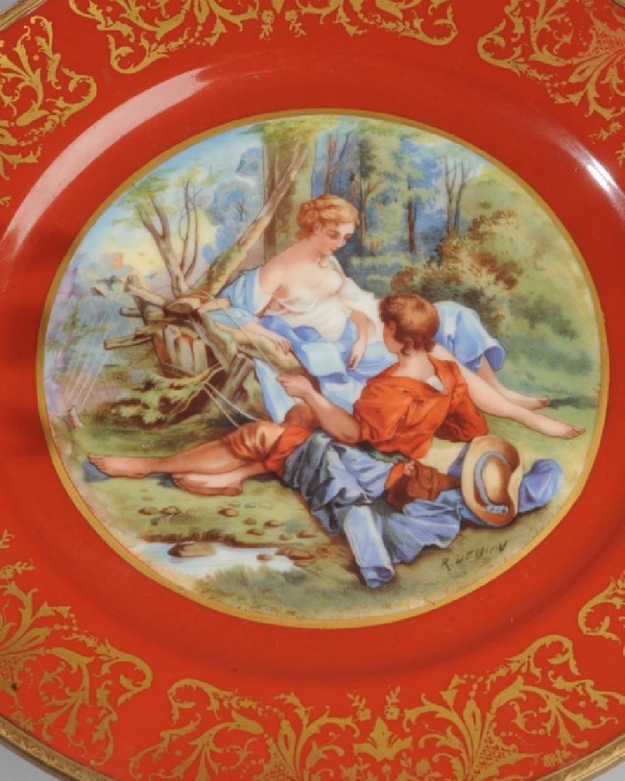 Antique Limoges Porcelain Plate, Bronze Mounts - 2