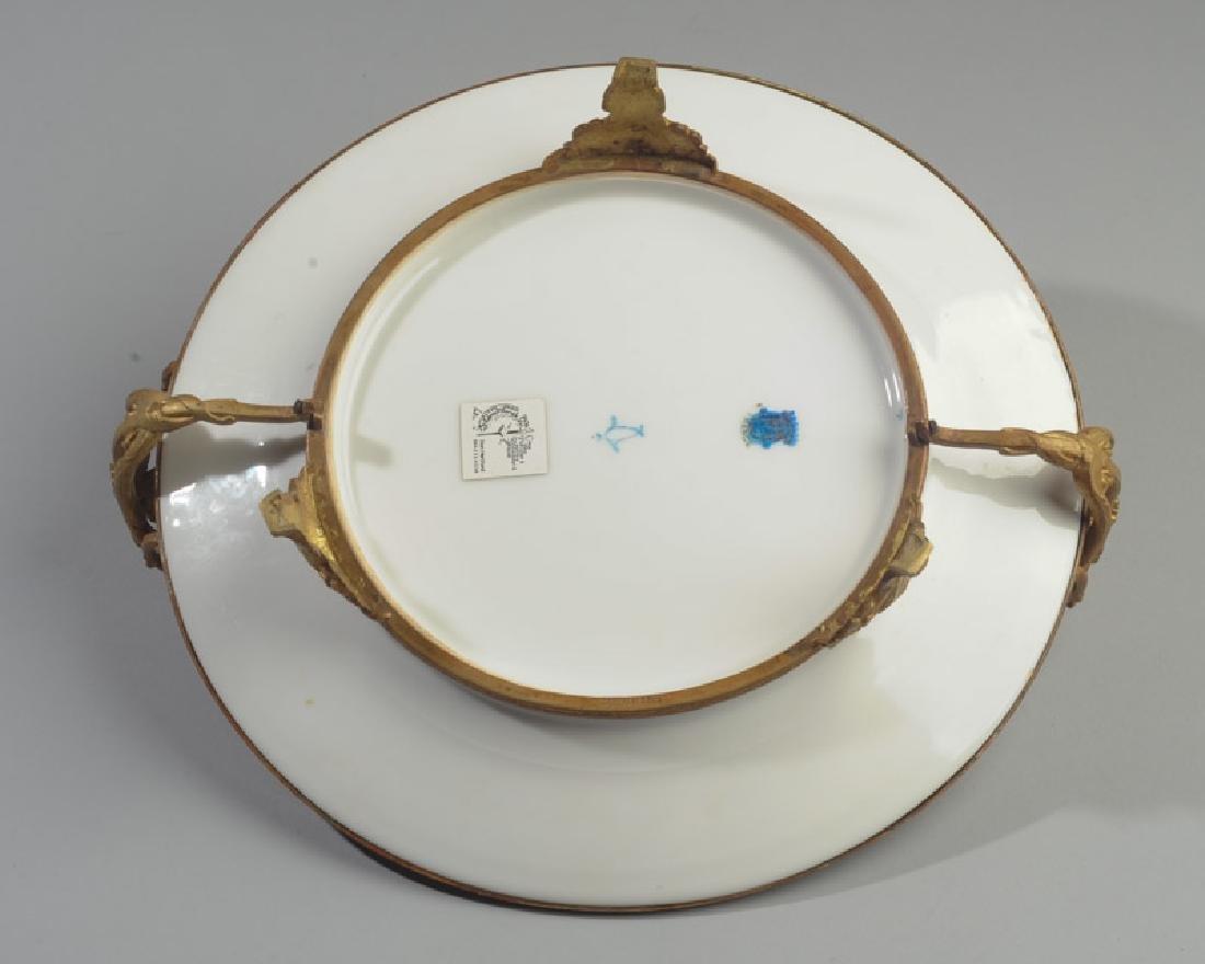 Antique Limoges Porcelain Plate, Bronze Mounts - 5