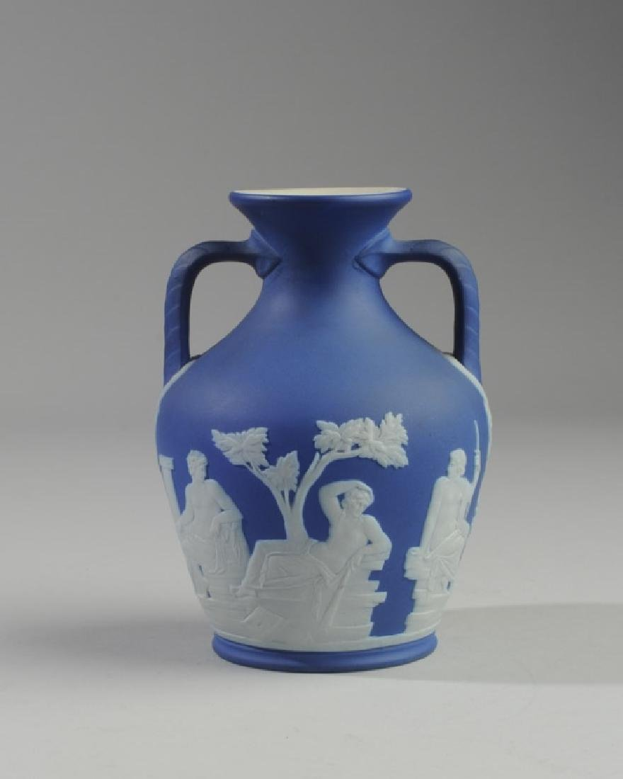 Wedgwood Dark Blue Jasperware Portland Vase
