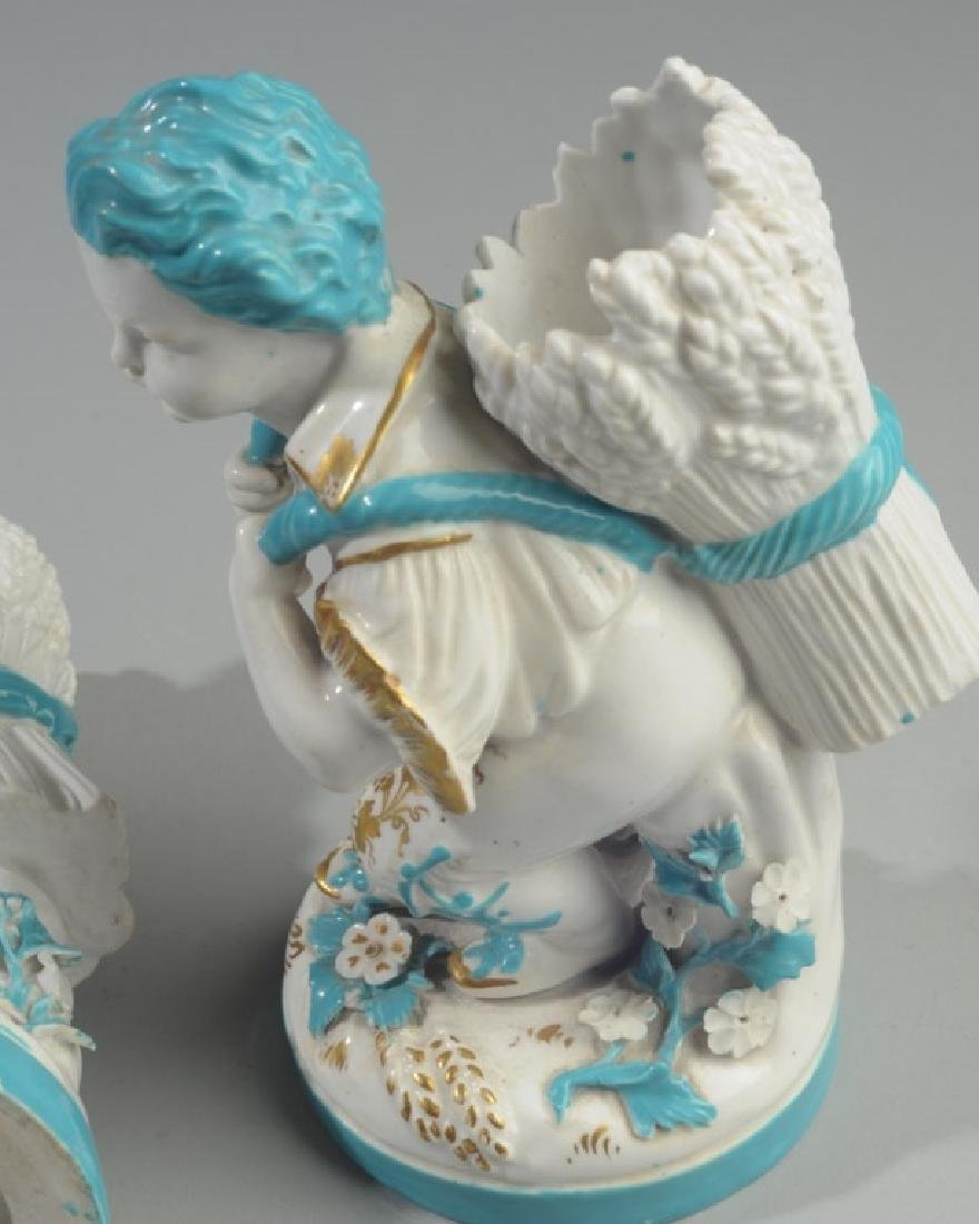Pair of Continental Figural Porcelain Vases - 6