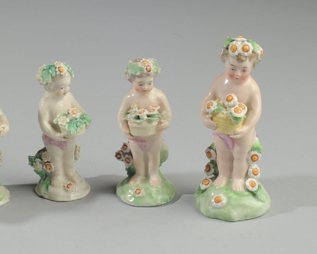 Five 18th C. Derby Porcelain Putti Figures - 2