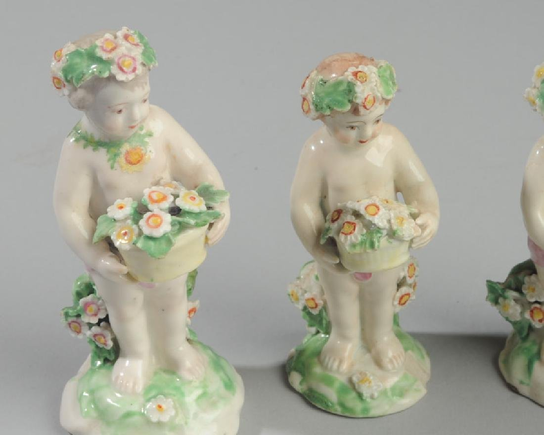 Five 18th C. Derby Porcelain Putti Figures - 4