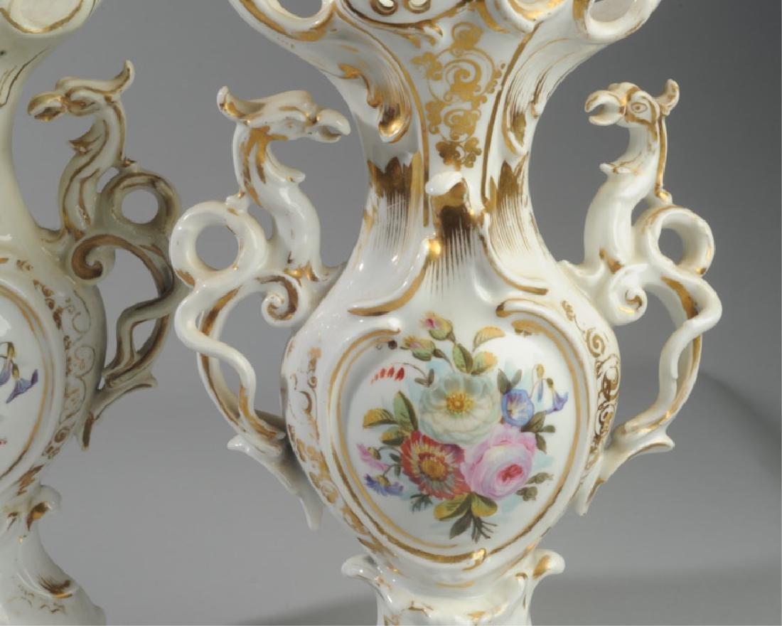 Pair of Old Paris Vases - 2