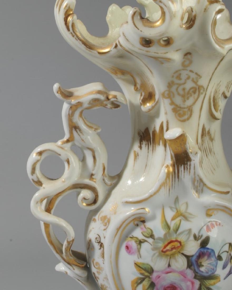 Pair of Old Paris Vases - 3