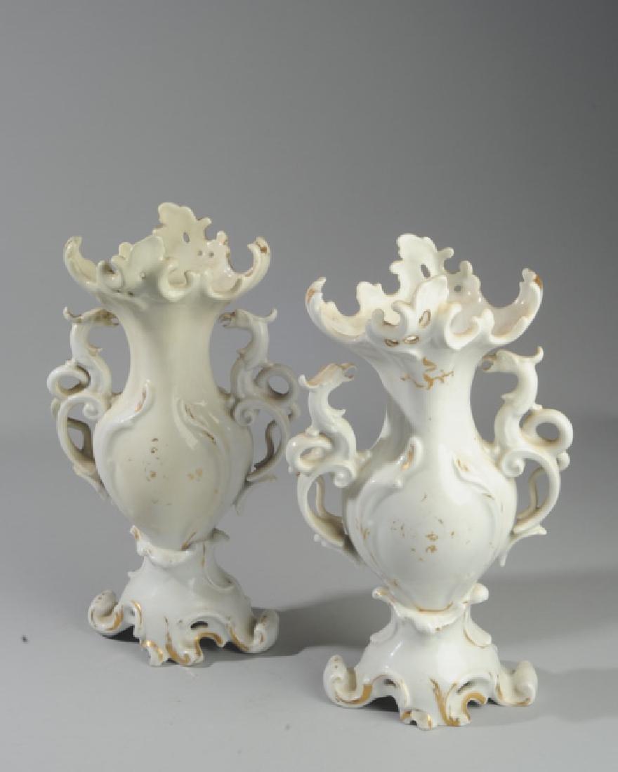 Pair of Old Paris Vases - 4