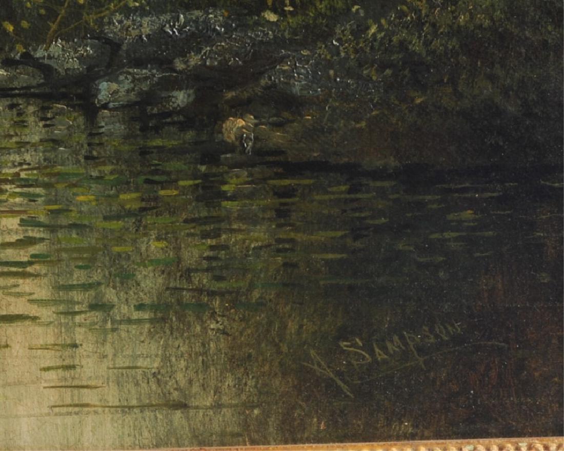 Alden Sampson (1853 - ?) Oil on Canvas - 2