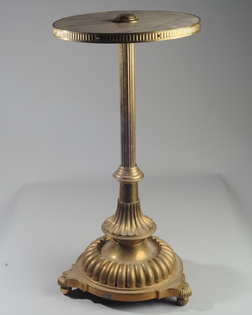 19th C. French Gilt Bronze Marble Top Gueridon