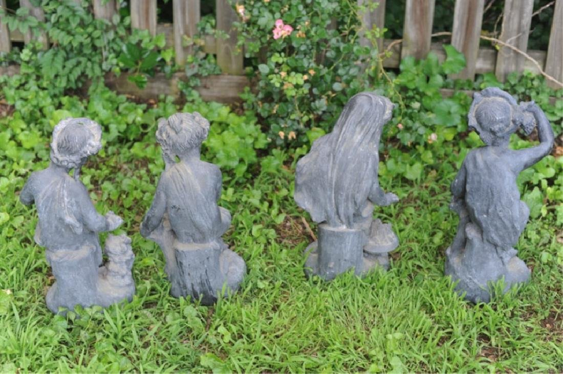 Four 19th C. French Lead Garden Figures - 10