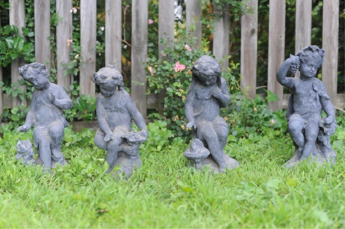 Four 19th C. French Lead Garden Figures - 3