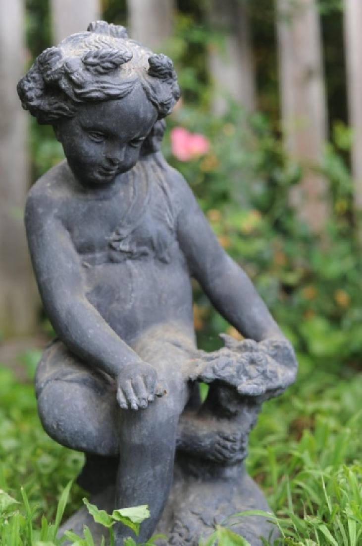 Four 19th C. French Lead Garden Figures - 5