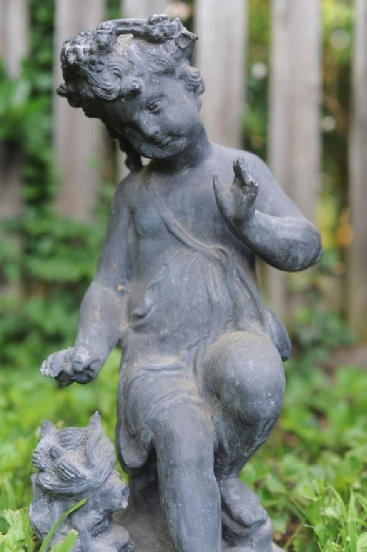 Four 19th C. French Lead Garden Figures - 6