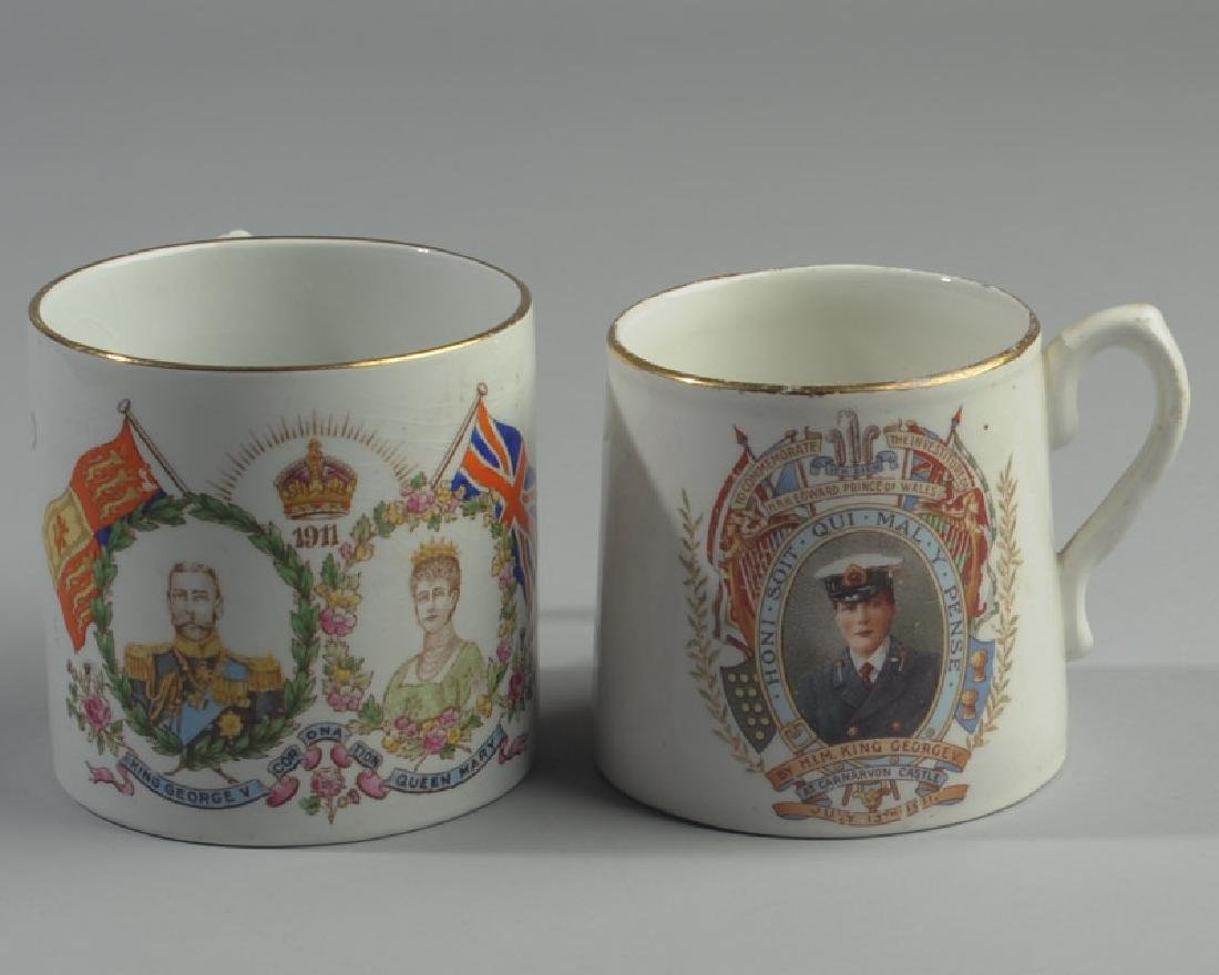 Two 1911 British Royalty Mugs