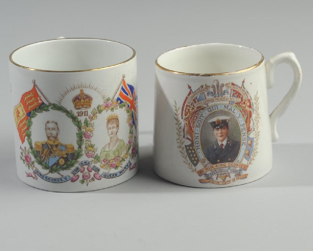Two 1911 British Royalty Mugs - 2