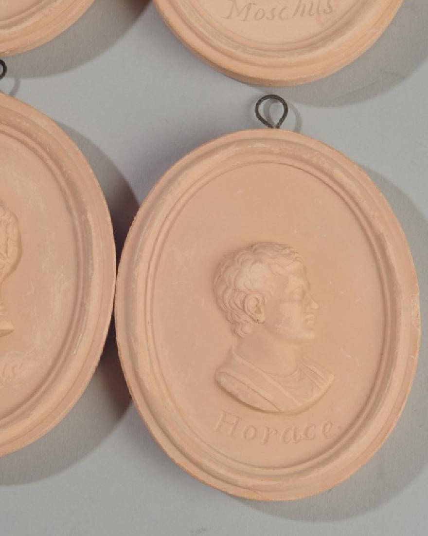 Set of 4 Miniature Terra Cotta Portrait Medallions - 2