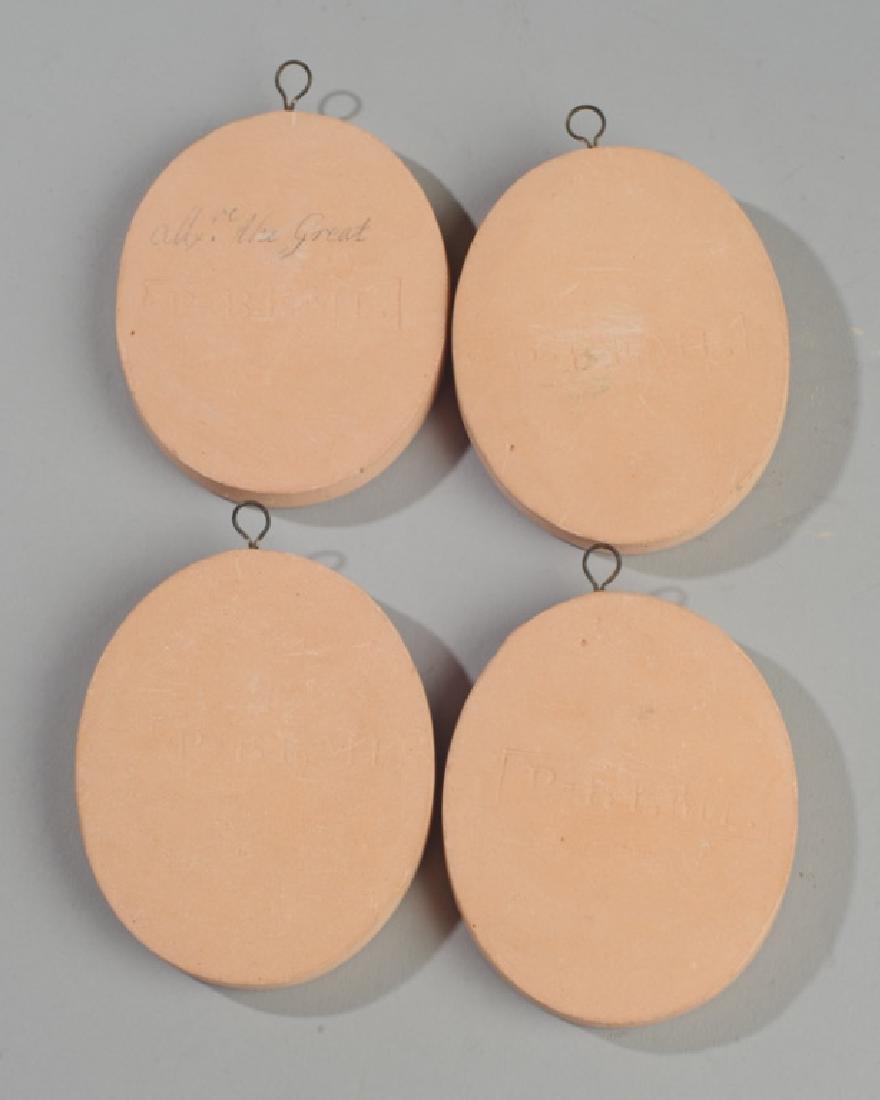Set of 4 Miniature Terra Cotta Portrait Medallions - 3