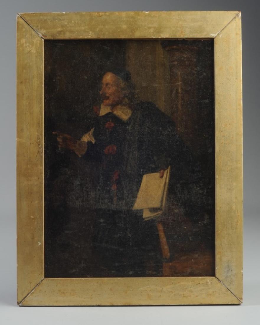 19th C. Oil on Panel of Gentleman