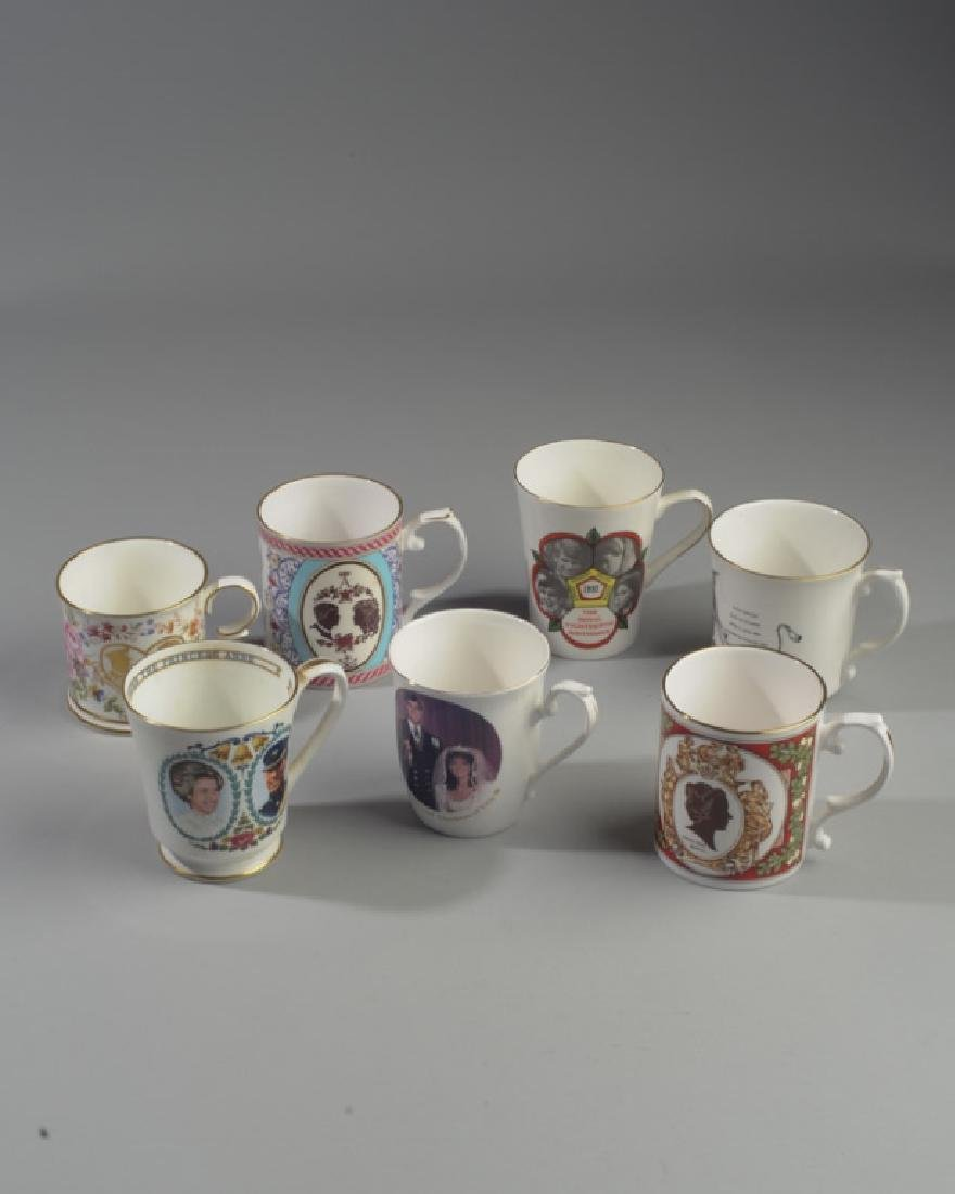Seven British Royalty Mugs