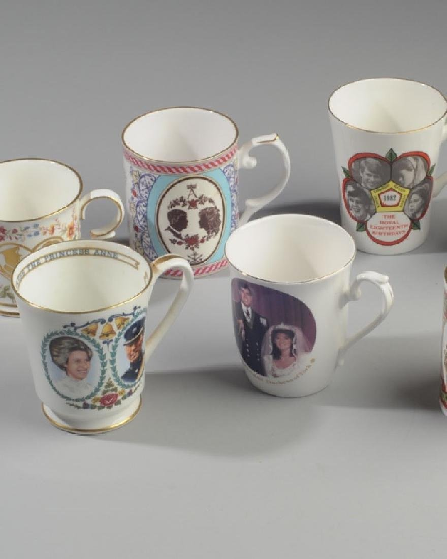 Seven British Royalty Mugs - 2