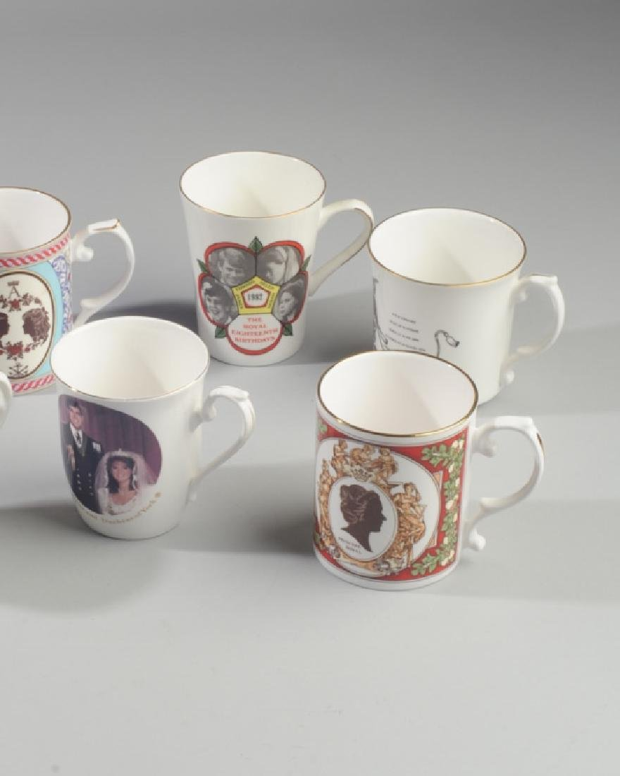 Seven British Royalty Mugs - 3