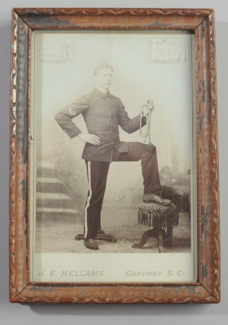 19th C. Cabinet Card Man with Bugle